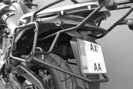 Baggage system, arcs, roof rack side frames motorcycle accessories